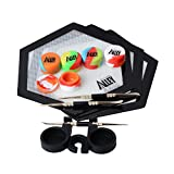 Silicone Alley, [FULL HEX SET] 3 Carving Tools + 3 Hexagon Mats + 5 Premium Wax Jar Containers (5ml) + 1 Container Holder