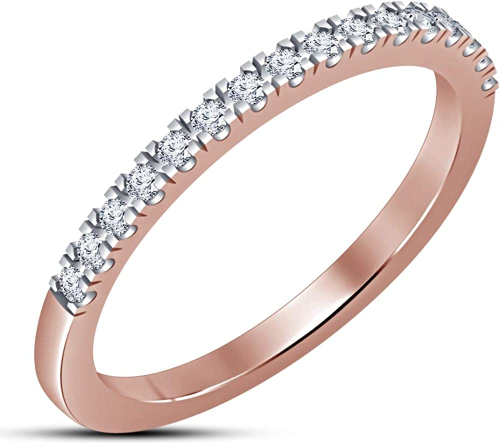 TVS-JEWELS Women's Band Wedding Ring Cut Cubic White Don't miss the SALENEW very popular! campaign Zirco Round