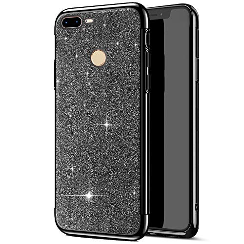 Jinghuash Compatible avec Huawei Honor 9 Lite Coque Bling Glitter Paillette Transparente Crystal Case Ultra Mince Slim Silicone TPU Souple Case Anti C