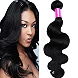 Cranberry Hair Unprocessed Brazilian Virgin Hair Body Wave 24 Inch One Bundle Virgin Human Hair Extensions Natural Black Color (100+/-5g)/pc (One Bundle)