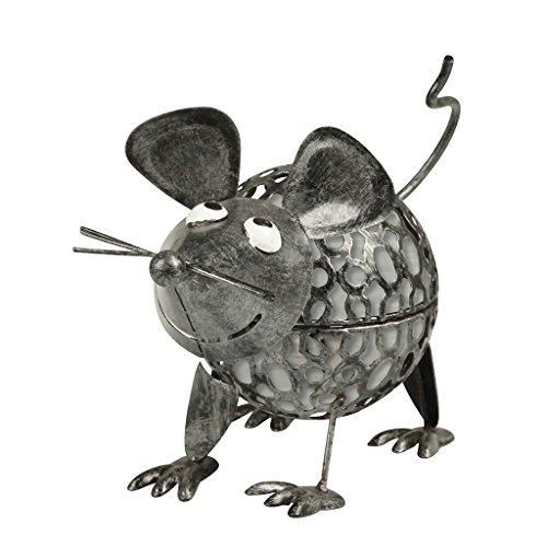 Solarline 403846 - Mouse in metallo solare, grigio, 23 x 11,5 x 16 cm