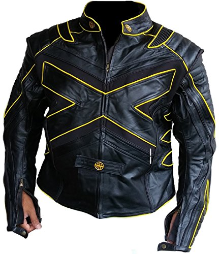 Classyak Xmen - Chaqueta de piel para motocicleta
