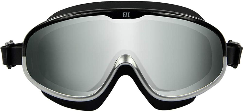 XJUNYYJ Swimming Goggles Waterproof Leakproof Adult Swimming Glasses Hd AntiFog Lens Clear Field of Vision Black