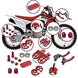 Pedales de Motocicleta Motocicleta CNC Peg PEGS Pieza DE ARCHILLO DE Freno Capa DE Gas Caja DE Ajuste DE Rodillos DE Rodillo DE Rodillo DE Rodillo DE RODILIZADOR para HON-DA CRF230F 2004-2015