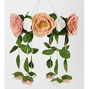 Sorrel + Fern Flower Crib Mobile Rose Nursery Decorations – Baby Shower Gift for Girls