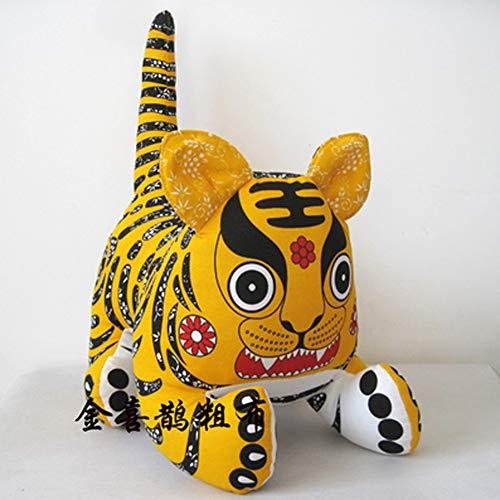 AINIYF Tuch Tiger handgemachtes das Tuch Tiger im chinesischen Stil Folk Handwerk Tiger Ornament Tuch Tiger Kleine Geschenke (Color : D, Size : 32 * 24 * 24CM)