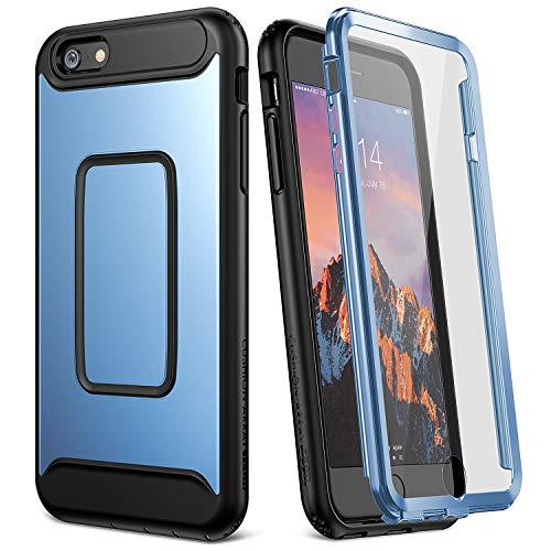 Yummaker Schutzhülle für iPhone 6S Plus (2015) / iPhone 6 Plus (2014), 14 cm (5,5 Zoll), integrierter Bildschirmschutz, blau