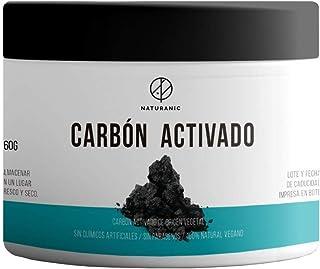 Naturanic - CARBÓN VEGETAL ACTIVADO 100% NATURAL - grado alimenticio, para blanquear dientes, utilizar en bebidas y preparar mascarillas faciales.