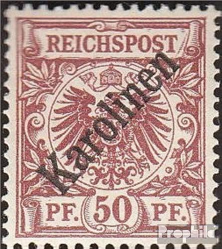 Prophila Collection Carolinas (alemán.Colonia) 6I Diagonal sobretasa 1900 emisión de sobrecarga (Sellos para los coleccionistas)