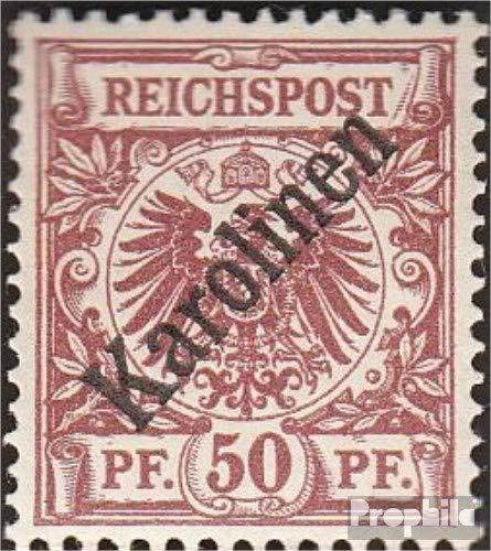 Prophila Collection Carolinas (alemán.Colonia) Michel.-No..: 6I examinado, Diagonal sobretasa 1900 emisión de...