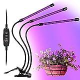 GolWof Lampe de Plante 60 LED 27W Lampe de Croissance à 3 Têtes 360° Éclairage...