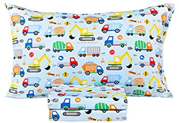 Scientific Sleep Cars Trucks Vehicle Engineering Cotton Cozy Twin Bed Sheet Set Flat Sheet & Fitted Sheet & Pillowcase Bedding Set  24 Twin