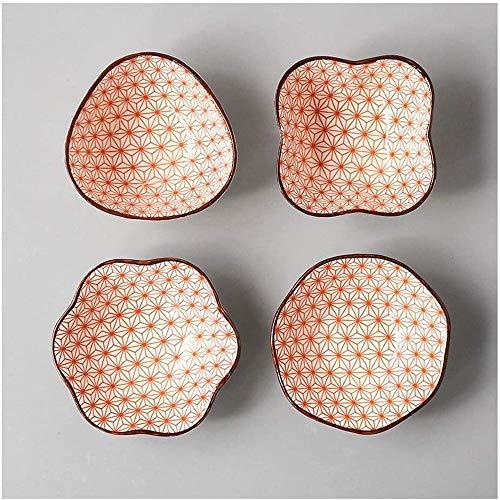 Copa de Postre en Serie, ramins de Porcelana 4 Factineros Fast Postres Platos de cerámica (Lote de 4),5
