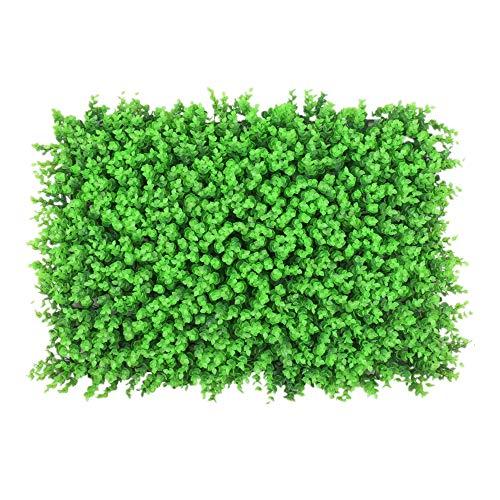 Plante de Haie Artificielle, 12 Pièces artificielles Panneaux de couverture de Boxwood Mat Topiary haie végétale UV Confidentialité écran de protection extérieur Usage intérieur Patio Décorations Jard