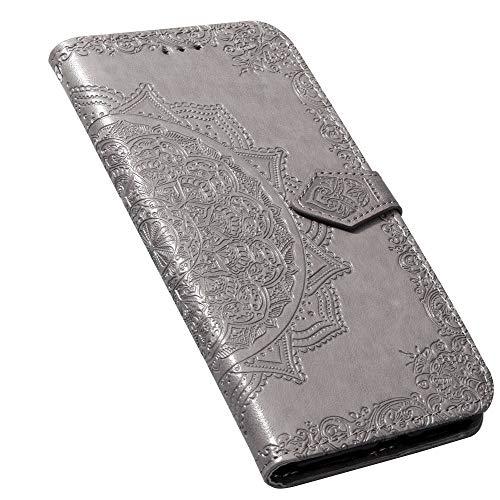 Laybomo Custodia Meizu M5s Pelle Custodia Goffratura Floreale Portafoglio Porta Carte di Credito Magnetico Protezione Antiurto Morbido TPU Silicone Libro...
