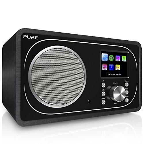 Pure Evoke F3 Digitalradio (DAB+, DAB, UKW, WLAN, Bluetooth, Internetradio, Spotify Connect, App, Sleep-Timer, Weckfunktion, inkl. Fernbedienung, Streaming, 25000 Radiosender), Schwarz