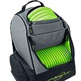MVP Disc Sports Shuttle Bag Rucksack, Grau / Limettengrün