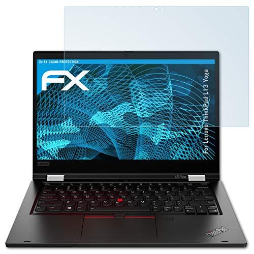 atFolix Schutzfolie kompatibel mit Lenovo ThinkPad L13 Yoga Folie, ultraklare FX Bildschirmschutzfolie (2X)