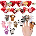 JOYIN 28 Valentines Day Pre Filled Hearts with Valentine Cards Filled with Finger Puppets for Kids Valentine Classroom Exchange, Cute Toys for Valentine Party Favors, Gift Exchange, Game Prizes by Joyin, Inc.