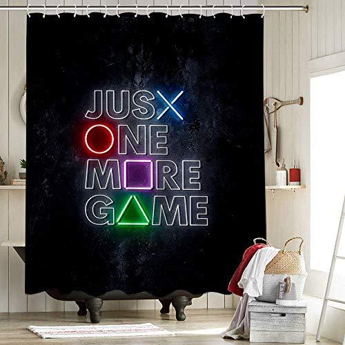 Dark Souls 3 Artorias and Sif Duschvorhänge für Badezimmer Badezimmer Dekor Gaming Just One More Game Final Fantasy Xiv White Mage Neon 167 x 183 cm