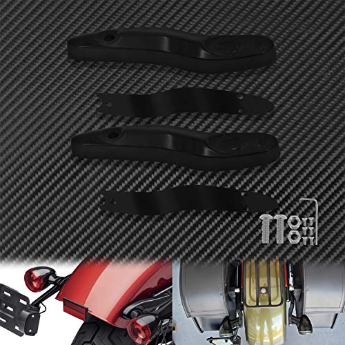 Motorcycle cover and mouldings Motorcycle Rear Turn Signal Extension Bracket Indicators Light License Plate Relocation Kit Black Fit For Harley Softail FL 2000-20 (Color : Extension Bracket)