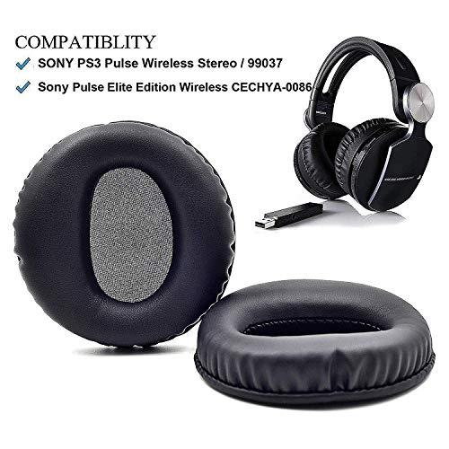1 paar vervangende oorkussens Oorkussen Kussen Kussen voor Sony Pulse Elite Edition Draadloze CECHYA-0086 Oor Koptelefoon hoofdtelefoon, leder