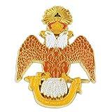 33rd Degree Double Headed Eagle Scottish Rite Masonic Auto Emblem - [Brown & White][3'' Tall]