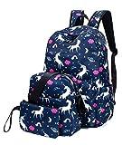 Leaper Unicorn Backpack for Girls Laptop Backpack School Bag Travel Daypack Bookbag Shoulder