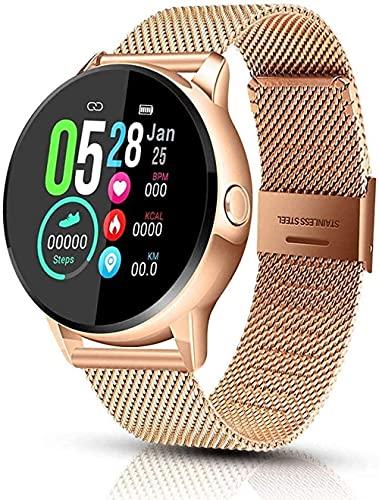 Reloj inteligente Fitness & Actividad Tracker pantalla táctil Bluetooth Smartwatch IP68 impermeable Reloj deportivo con podómetro de presión arterial/contador de pasos/monitor de sueño-A