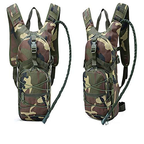 Wszzb Sport Doppel Rucksack Wasserkocher Tasche Tarnung Taktische Rucksack Outdoor Wasser Tasche Rucksack 25X7X45Cm