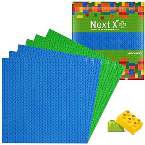 NextX 6 Stück Bauplatte für Classic Bausteine Plastik Grundplatte 25 x 25 cm