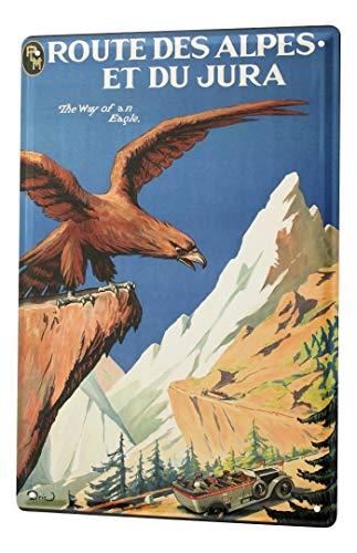 LEotiE SINCE 2004 Cartel Letrero de Chapa Trotamundos Alpes águila Francia