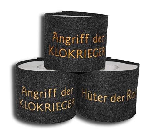 Banderole für Toilettenpapier bestickt - früher Häkelrolle oder Klopapierhut - Monogramm - Star Wars-Fans