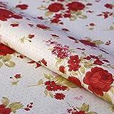 Hans-Textil-Shop Stoff Meterware Punkte Blumen Landhaus