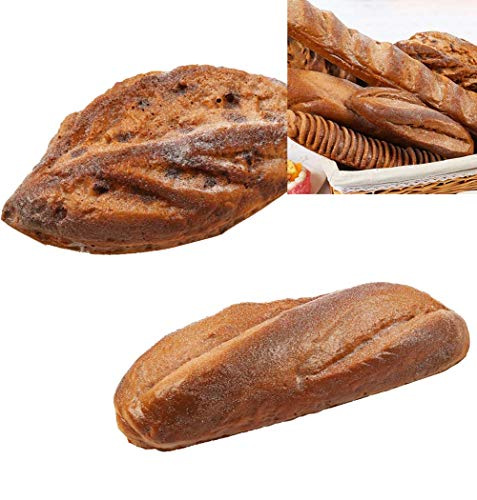 YWXKA kunstmatige simulatie Franse Baguettes, realistische nep chocolade brood, thuis keuken doen alsof spelen voedsel Decor, 2 Stks