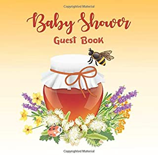 Baby Shower Guest Book: Cute Honey Bee Themed Gift for Girls or Boys | Space for Guest Advice | Gift Tracker Log & Keepsak...