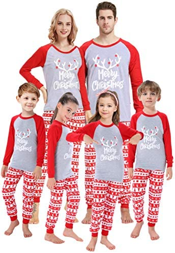 Matching Family Pajamas Christmas Boys Girls Deer Pjs Mum and Me Sleepwear Baby Boys Clothes product image