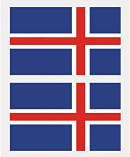 National Flags Tattoo Sticker Face Body Sticker for Football Soccer Fans (Iceland)