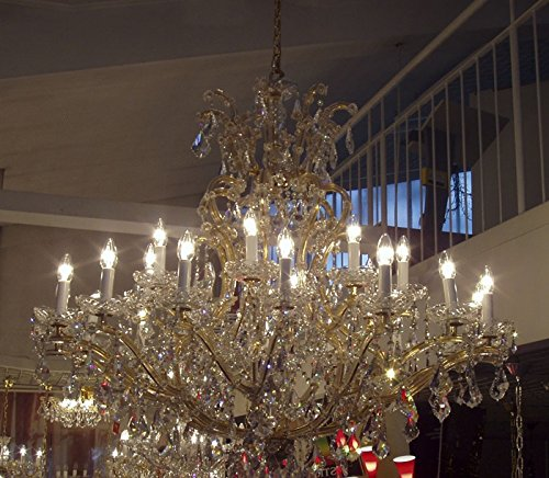 Kolarz kroonluchter Maria Theresia 24 karaat goud handwerk, Made in Italy, Made with Swarovski