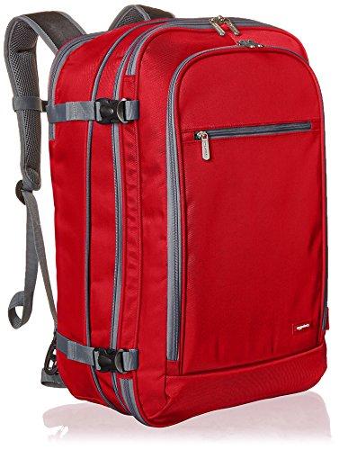 Amazon Basics - Mochila de equipaje de mano - Rojo