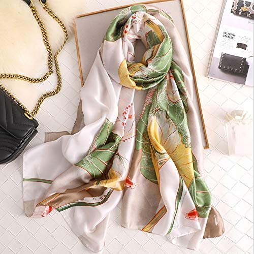 Vcnhln Primavera y otoño Bufanda de Moda para Mujer mantón Estampado cálido Protector Solar Toalla de Playa Bufanda Poncho