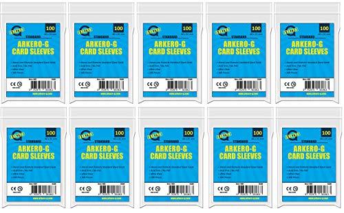 Arkero-G 1000 Soft Sleeves Standard - durchsichtige Kartenhüllen für Diverse TCG Kartenspiele wie Magic, Pokemon, Fortnite