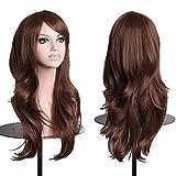 AneShe Wigs 28' Long Wavy Hair Heat Resistant Cosplay Wig for Women (Dark Brown)