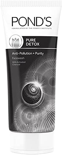 Pond's Pure Detox Anti-Pollution Purity Face Wash With Activated Charcoal, 100 g