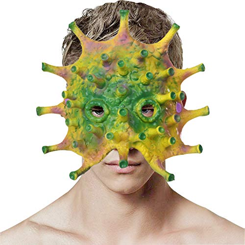Petalum Halloween Horror Virus Bacterial Mask Evil Monster Kleid Cosplay Kostüm Zubehör Geschenk für Festival Party Karneval Scary Maske