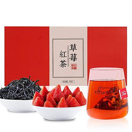 いちご紅茶 草莓紅茶包90g(3g*30包) 花茶 果物のお茶 ティーバッグ 中国茶 紅茶 茶葉 無添加