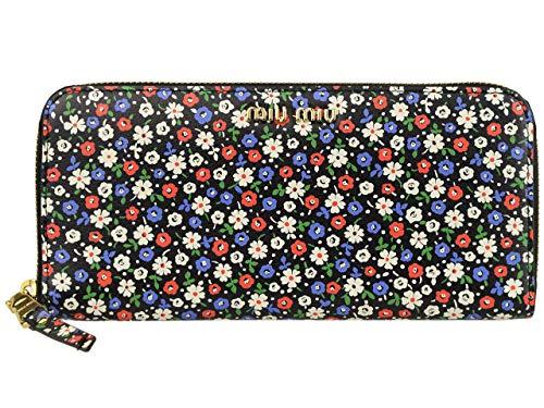[ミュウミュウ] MIUMIU 財布 長財布 ラウンドファスナー 花柄 アウトレット 5ml506 [並行輸入品]
