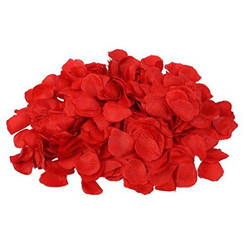 Schramm® 1000 stuks rozenblaadjes rozenblaadjes rode rozenbladeren bloeien kunstbloemen zijden bloemen