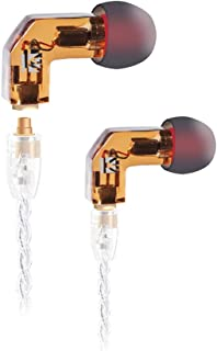 in-Ear Monitor Earphone with Detachable Cable,KBEAR F1 High Fidelity in-Ear Earphone Hi-Res Audio Earbuds with Balanced Armature, Professional IEM Earphones, Noise-Isolating Musician Headset(Orange)