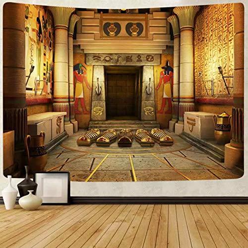 N/A Impresión 3D De Cinta Tapiz Egipcio Antiguo Egipto Mitología Tapices para Colgar En La Pared para Sala De Estar Dormitorio Dormitorio Hogar Manta Decoración